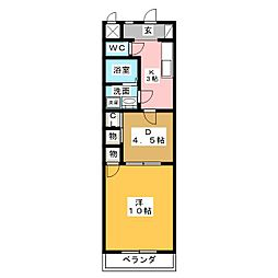 ロフティー31[3階]の間取り