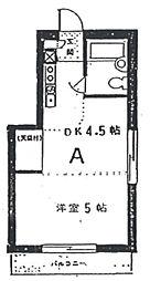東京都新宿区愛住町の賃貸マンションの間取り