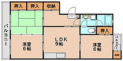 第3金堂ビル[4階]の間取り