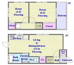 [一戸建] 兵庫県神戸市垂水区霞ケ丘6丁目 の賃貸【/】の間取り