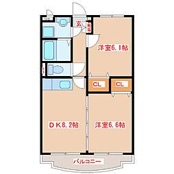 プルメリアガーデン[3階]の間取り