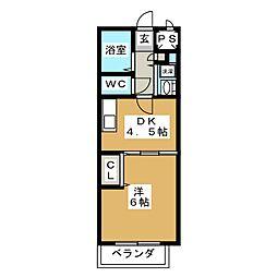 ソシア内山[2階]の間取り