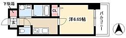 第18金山フクマルビル 9階1Kの間取り