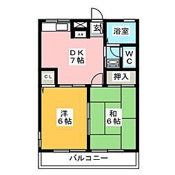 レトア上諏訪B[2階]の間取り