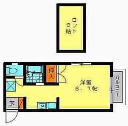 プログレス福岡南[102号室]の間取り
