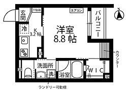 新築PHARE/ファーレ 3階1Kの間取り