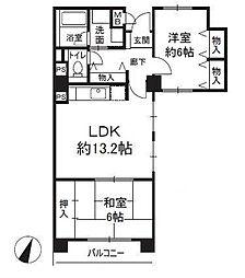 エクセル(福島)[6階]の間取り