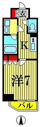 GRAND CONCIERGE KIKUKAWA[401号室]の間取り