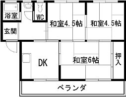 マンション渋谷[302号室]の間取り