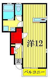 Espoir B棟[1階]の間取り