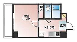 MIYABI(RH) 2階1Kの間取り