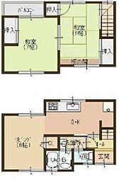 [一戸建] 大阪府八尾市東本町1丁目 の賃貸【/】の間取り