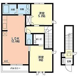 Villa A[2階]の間取り