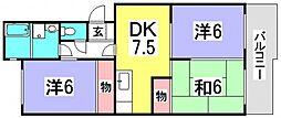 第1ビューハイツ[2階]の間取り
