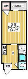 ピュアスモトB棟4階Fの間取り画像