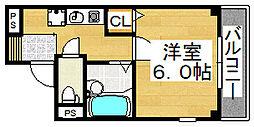 ハイツ東雲ビーハイブ[2階]の間取り