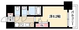 メイクス矢場町 9階1Kの間取り