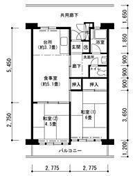 津久野南団地[8階]の間取り