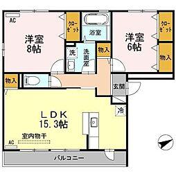 セジュールK[3階]の間取り