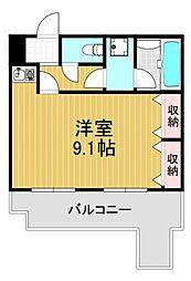 アメニティ北堀江[9階]の間取り