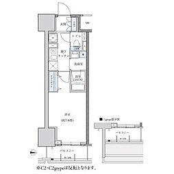 パークアクシス新栄 14階1Kの間取り