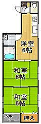 マンションSKY[3階]の間取り