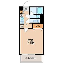 HF北四番丁レジデンス[7階]の間取り