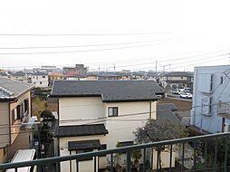 前面棟が無い、開放的な眺望です