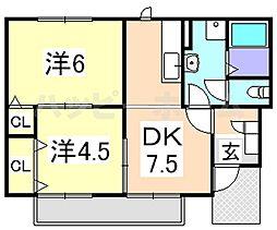 アルトレフィナード[1階]の間取り