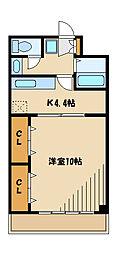 パル東林間[3階]の間取り