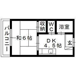 静岡県浜松市中区泉4丁目の賃貸マンションの間取り