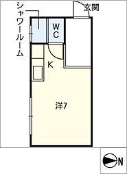 パークサイド朝日 101号室[1階]の間取り