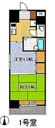 プレジデント・イン・上杉[8階]の間取り