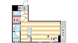 KAISEI神戸北野町 1階1Kの間取り