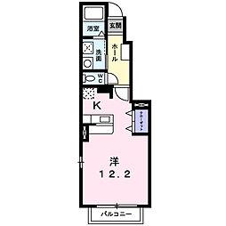 カーサ ボニータII[1階]の間取り