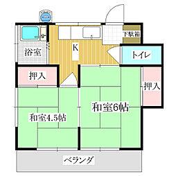 山宮荘[1階]の間取り