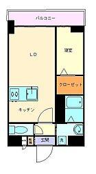 ヴィラハイネス舞鶴[2階]の間取り