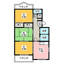 岩田マンションA[3階]の間取り