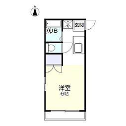 サンライズオカヤマ[1階]の間取り