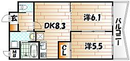 ヒット小倉BLD[10階]の間取り
