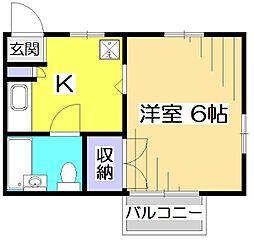 ディステラ[2階]の間取り