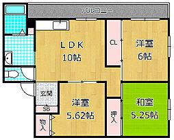 野村マンション[1階]の間取り