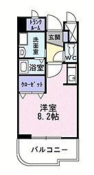 レフィナードE[2階]の間取り