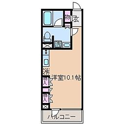 神奈川県横浜市港北区錦が丘の賃貸マンションの間取り