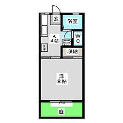 コーポ・レーベン B棟[1階]の間取り
