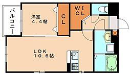 エミリア篠栗駅前[5階]の間取り