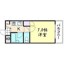 メゾン三松[202号室]の間取り