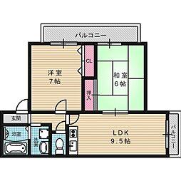 芳和ハイツ[3階]の間取り