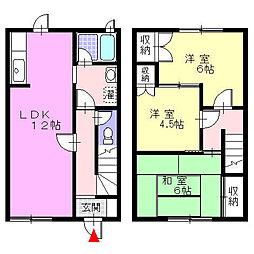 [テラスハウス] 神奈川県小田原市堀之内 の賃貸【/】の間取り