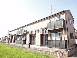 愛知県岡崎市矢作町字竊樹の賃貸アパートの外観